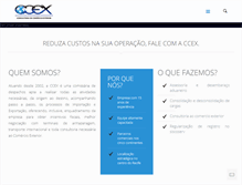 Tablet Preview of ccex.com.br